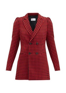 RED Valentino REDValentino Double-breasted houndstooth jacket