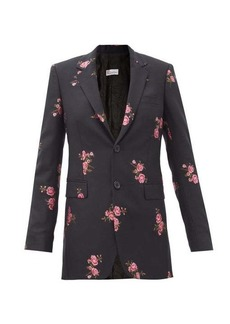 RED Valentino REDValentino Floral-embroidered wool-blend twill jacket