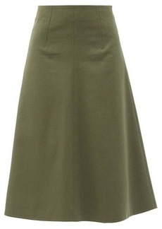 RED Valentino REDValentino High-rise cotton-blend A-line skirt
