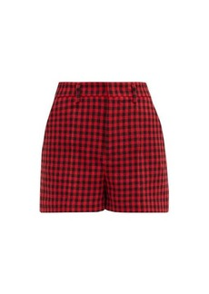 RED Valentino REDValentino High-rise houndstooth shorts
