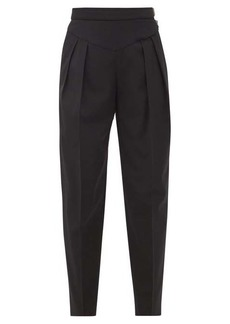 RED Valentino REDValentino High-rise pleated crepe trousers