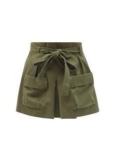 RED Valentino REDValentino Paperbag-waist cotton-blend cargo shorts