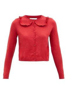 RED Valentino REDValentino Ruffled wool-blend cardigan