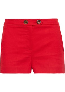 RED Valentino Redvalentino Woman Cotton-blend Ponte Shorts Tomato Red