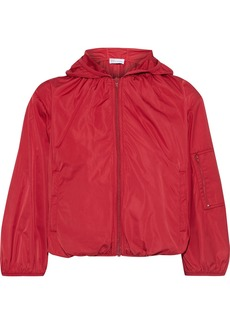 RED Valentino Redvalentino Woman Cropped Shell Hooded Jacket Red