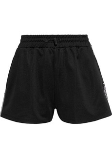 RED Valentino Redvalentino Woman Grosgrain-trimmed Jersey Shorts Black
