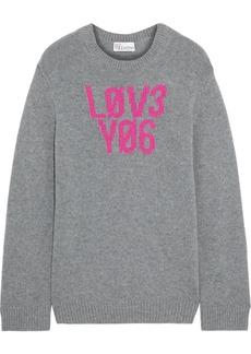 RED Valentino Redvalentino Woman Intarsia Wool Sweater Gray