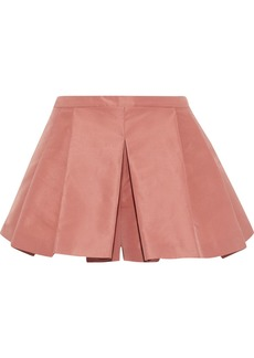 RED Valentino Redvalentino Woman Pleated Satin-faille Shorts Antique Rose