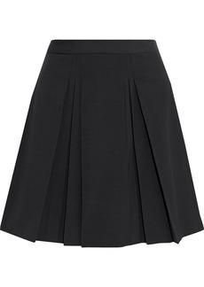 RED Valentino Redvalentino Woman Pleated Twill Mini Skirt Black