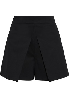 RED Valentino Redvalentino Woman Pleated Wool-blend Shorts Black