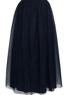 RED Valentino Redvalentino Woman Point D'esprit Midi Skirt Black