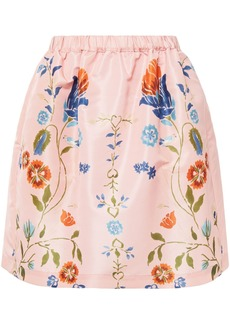 RED Valentino Redvalentino Woman Printed Taffeta Mini Skirt Pastel Pink