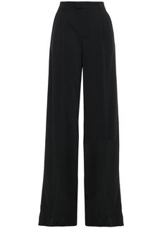 RED Valentino Redvalentino Woman Stretch-crepe Wide-leg Pants Black