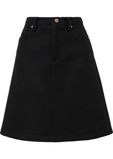 RED Valentino Redvalentino Woman Wool-blend Felt Skirt Black