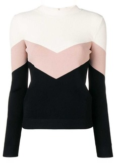RED Valentino ribbed knit panelled sweater