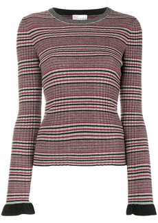 RED Valentino ribbed striped jumper