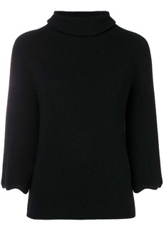 RED Valentino ribbed turtle neck jumper