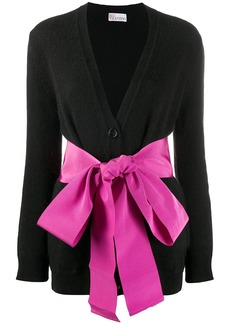 RED Valentino ribbon-detail knitted cardigan