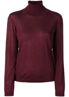 RED Valentino RED (V) mesh insert roll neck sweater