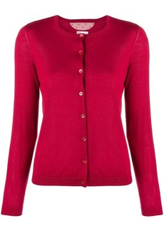 RED Valentino round neck knitted cardigan