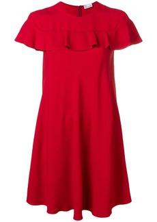 RED Valentino ruffle detail mini dress
