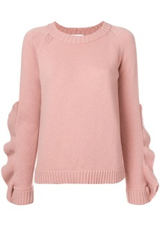 RED Valentino ruffle detail sweater
