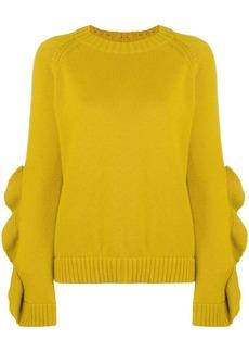 RED Valentino ruffle sleeve sweater
