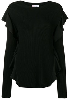 RED Valentino ruffle-trim fitted sweater