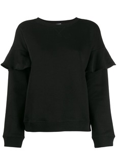 RED Valentino ruffle trim sweatshirt