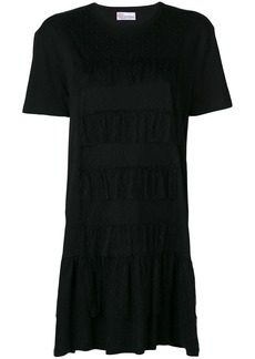 RED Valentino ruffle trim T-shirt dress