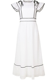 RED Valentino ruffled broderie anglaise maxi dress