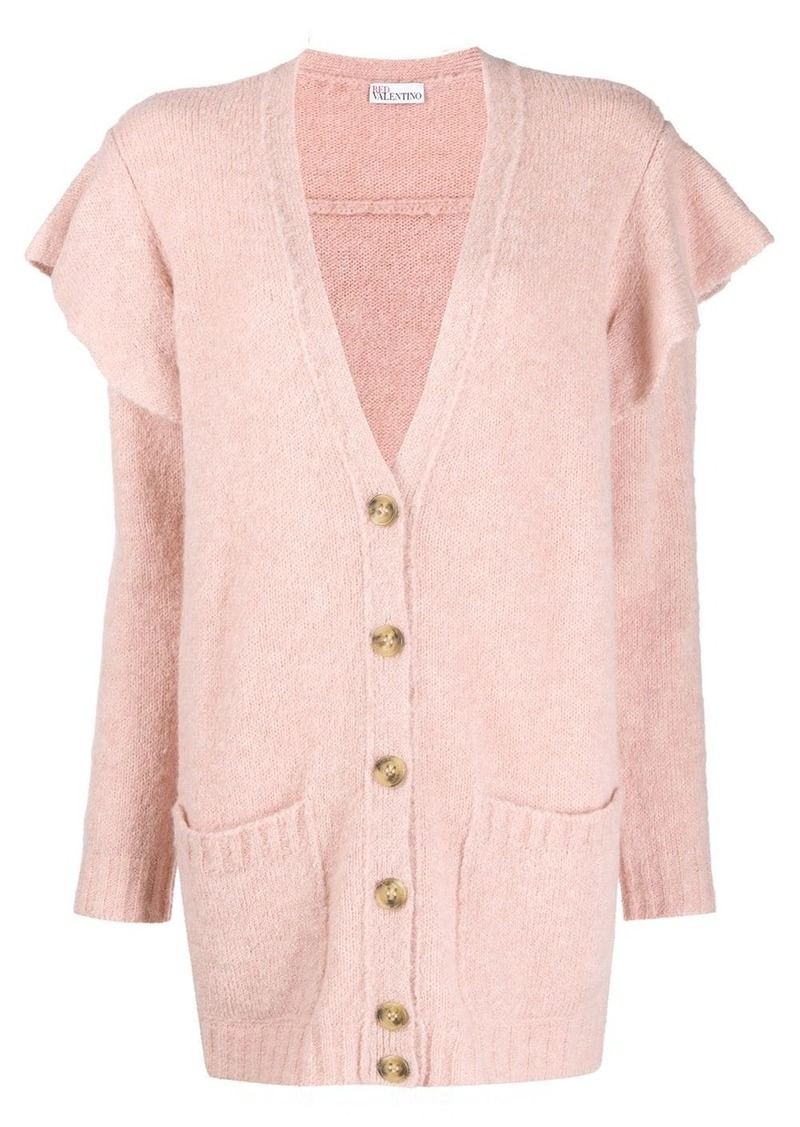 RED Valentino ruffled buttoned cardigan