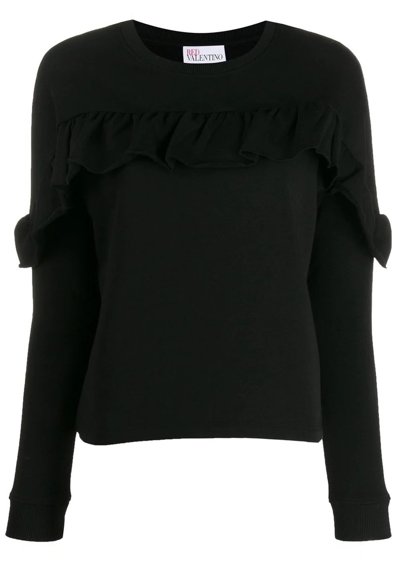 RED Valentino ruffled detail sweatshirt