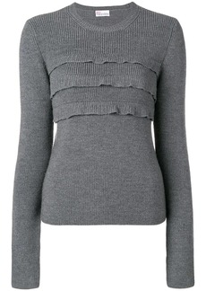 RED Valentino ruffled front jumper