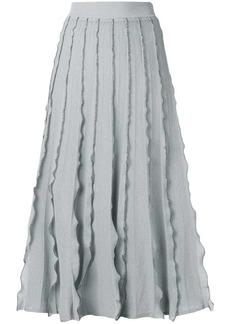 RED Valentino ruffled midi skirt