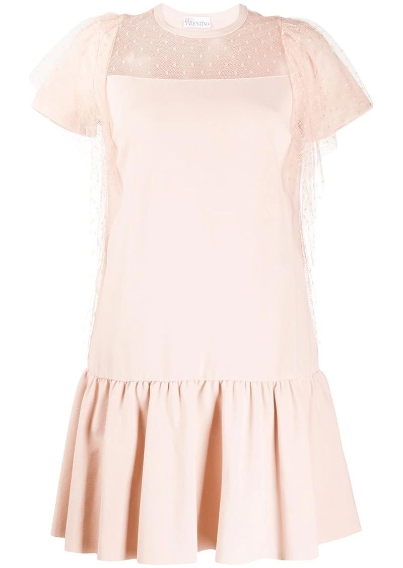 RED Valentino ruffled T-shirt mini dress