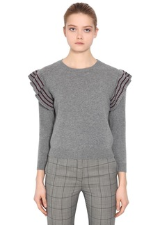 RED Valentino Ruffled Wool Knit Sweater