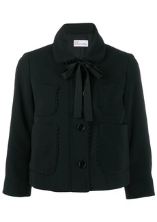 RED Valentino scalloped detail cropped jacket