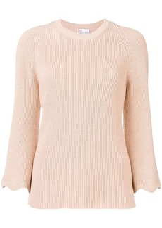 RED Valentino scalloped sleeve jumper