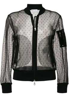 RED Valentino sheer bomber jacket