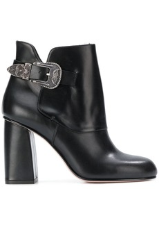 RED Valentino RED(V) side buckle embellished boots