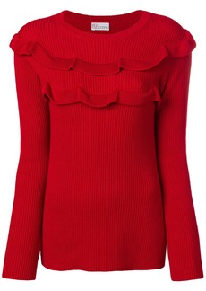 RED Valentino side slit ruffle sweater