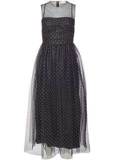 RED Valentino Sleeveless Dress with Tulle