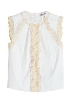 RED Valentino Sleeveless Top with Lace