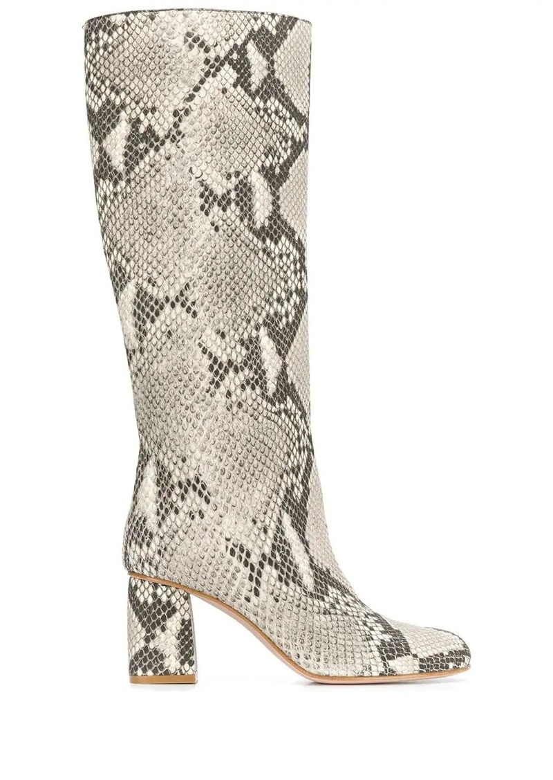 RED Valentino snakeskin-effect boots