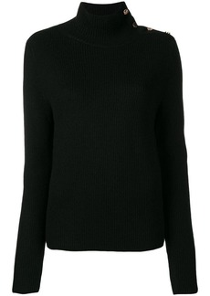 RED Valentino snap collar jumper