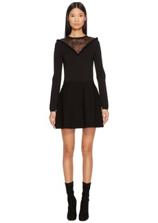 RED Valentino Stretch Viscose Yarn & Lace Dress