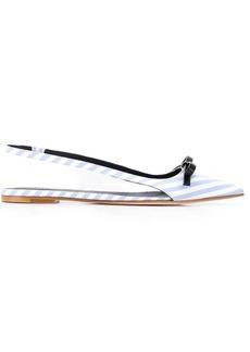 RED Valentino stripe slingback shoes