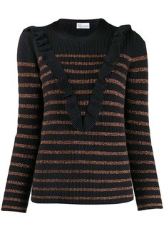 RED Valentino stripped knit sweater