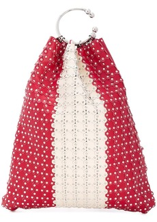 RED Valentino RED(V) studded bucket tote